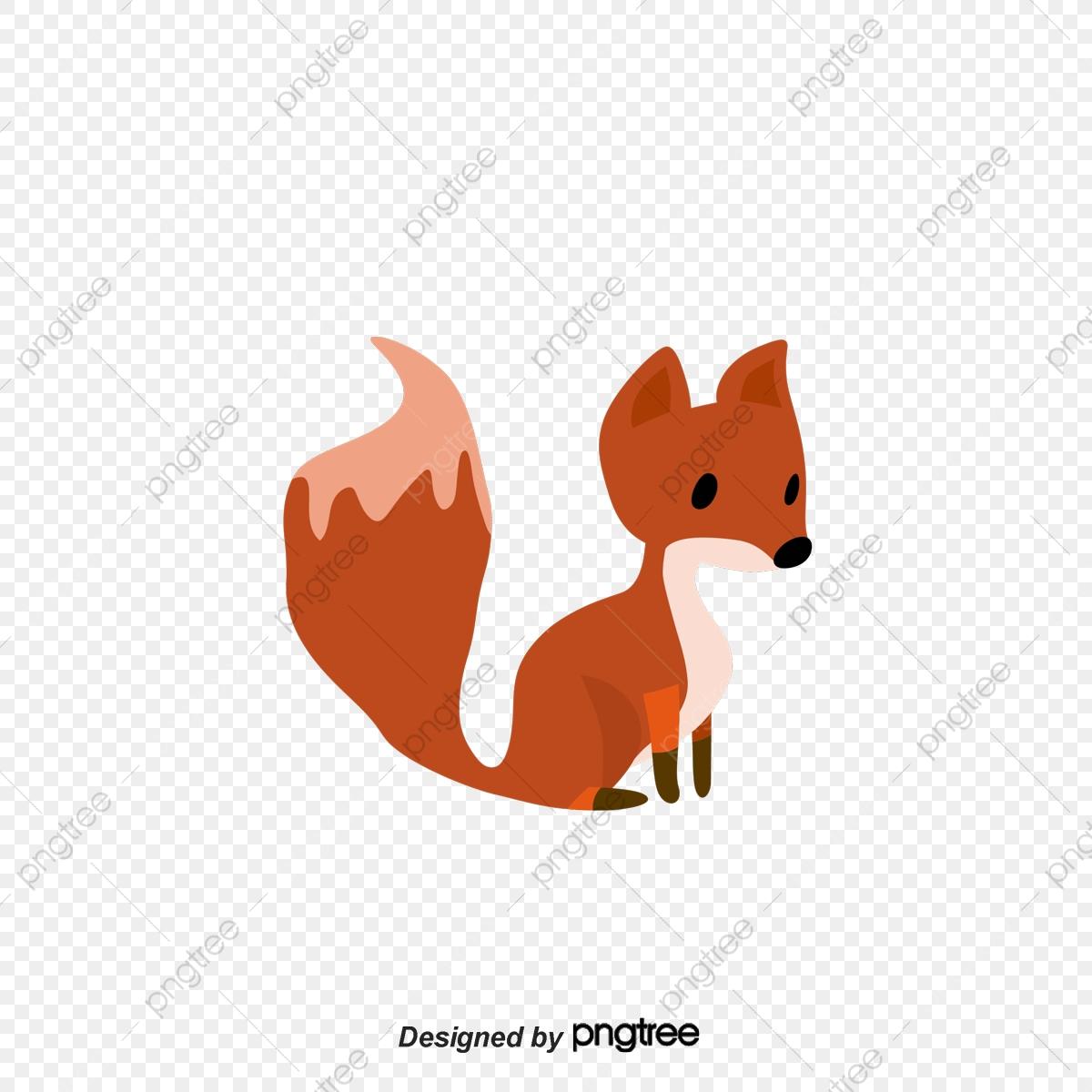 Cartoon Fox Vector, Cartoon Animal, Cartoon Hand Drawing, Decorative.