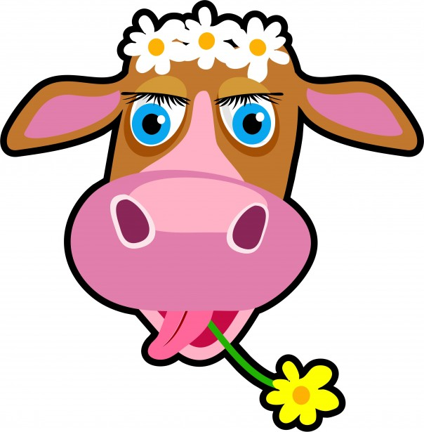 Cartoon Cow Clipart Free Stock Photo.