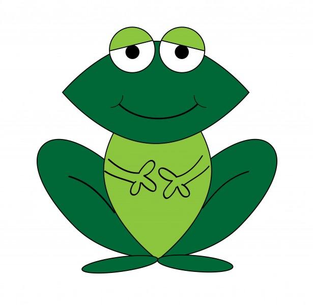 Frog Cartoon Clipart Free Stock Photo.