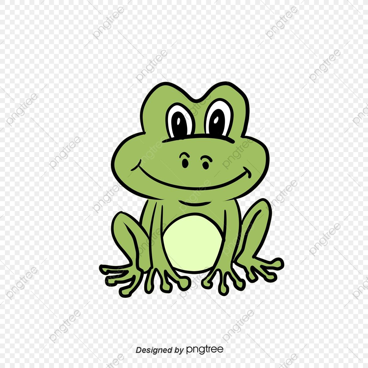 Hand Painted Cartoon Frog Clipart, Clip Art, Animal, Cartoon PNG.