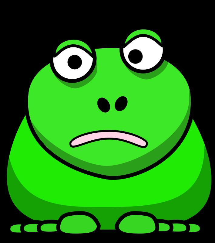 Free Clipart: Cartoon Frog.