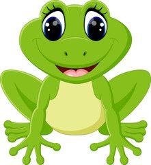 Cute frog cartoon.
