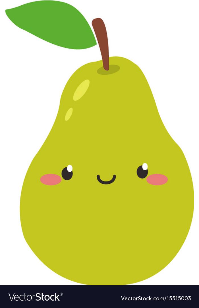 Cute fruits cartoon clipart.