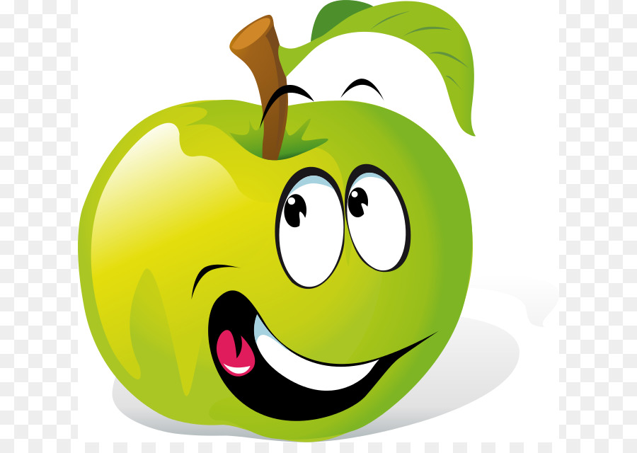 Green Smiley Face png download.