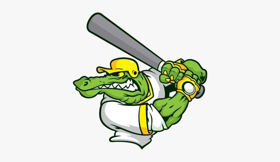 Printed Vinyl Gator Baseball Player.