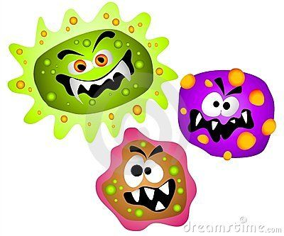 Germs Viruses Bacteria Clipart.