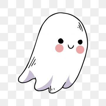 Cute Ghost PNG Images.
