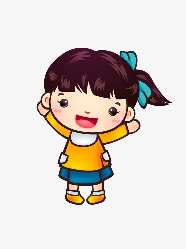 Cartoon Little Girl, Cartoon Clipart, Little Girl, Cartoon PNG.