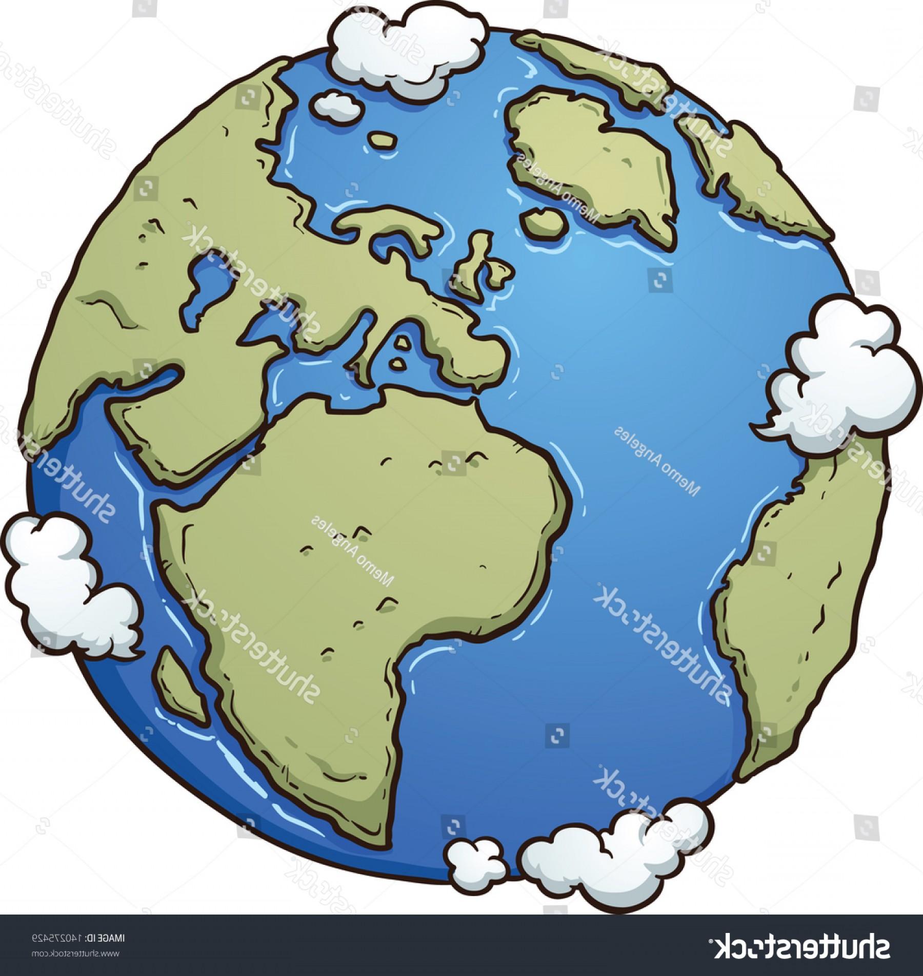 Cartoon Earth Vector Clip Art Illustration.