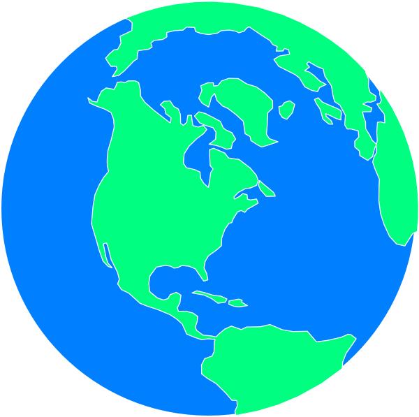 Flat Cartoon Globe Clip Art at Clker.com.