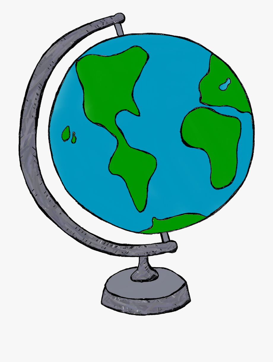 Globe Earth Clipart Black And White Free Clipart Images.