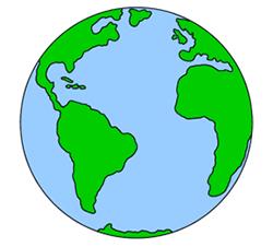 Cartoon Earth drawing.