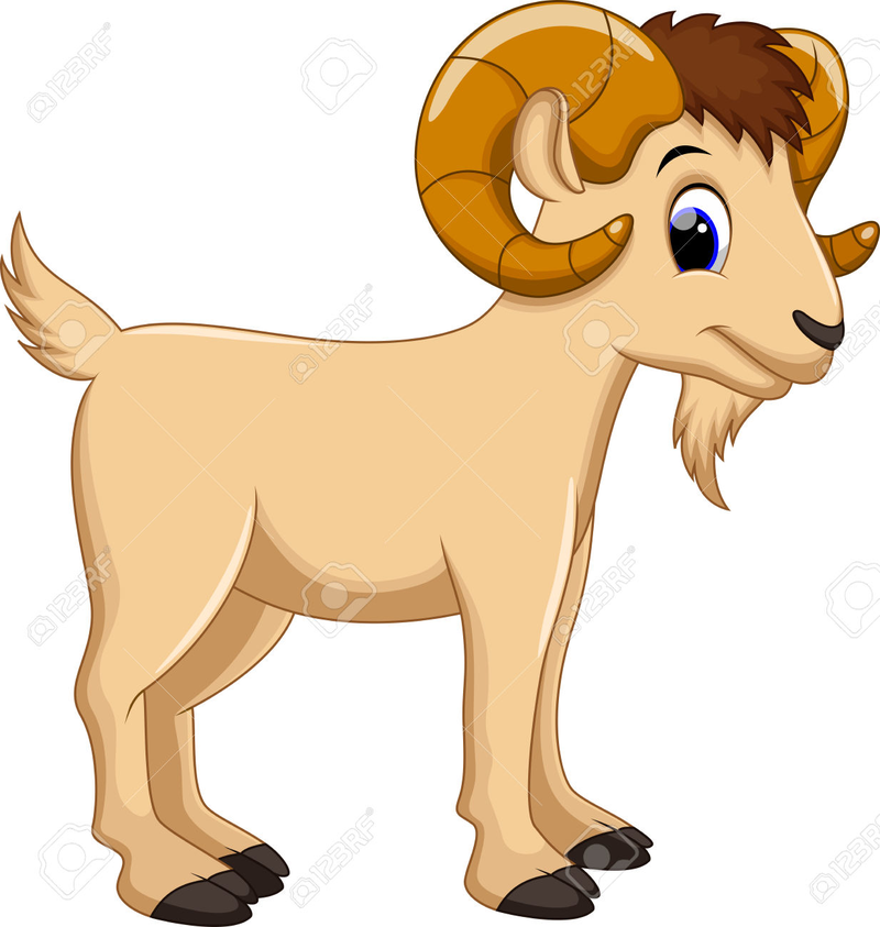 Download Free png Cute Cartoon Goat Clipart #1.