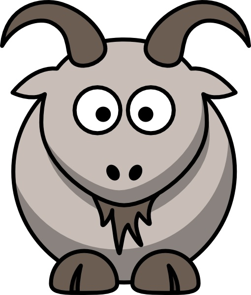 Cartoon goat clip art free vector in open office drawing svg.