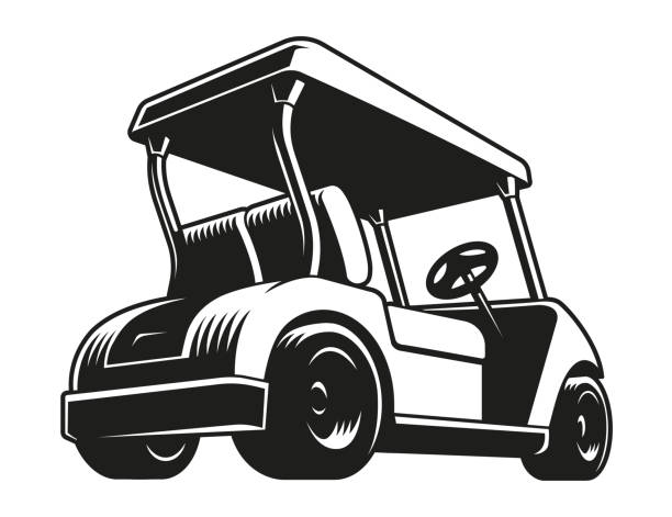 Best Golf Cart Illustrations, Royalty.
