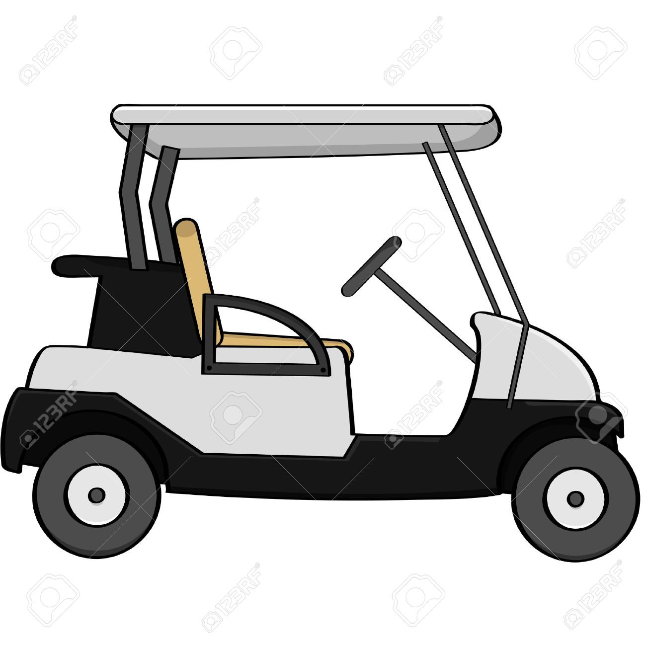 92 Golf Cart free clipart.