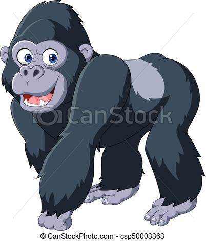 Cartoon silver back gorilla.