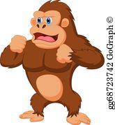 Gorilla Cartoon Clip Art.