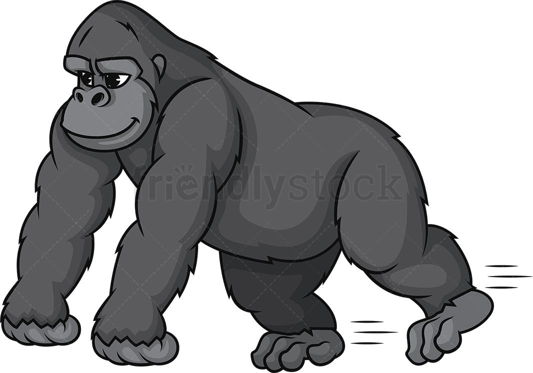Gorilla Running.