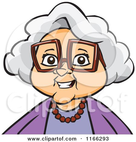 Cartoon of a Granny Woman Avatar.