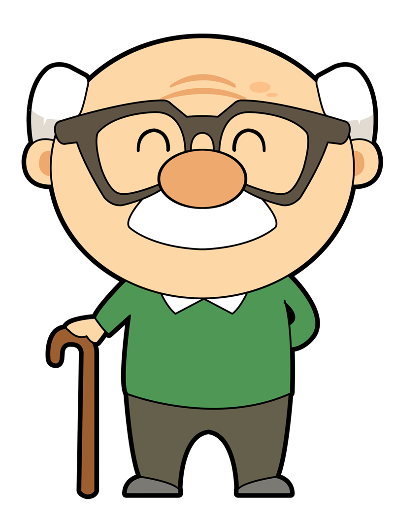 Cartoon Grandpa Clipart.
