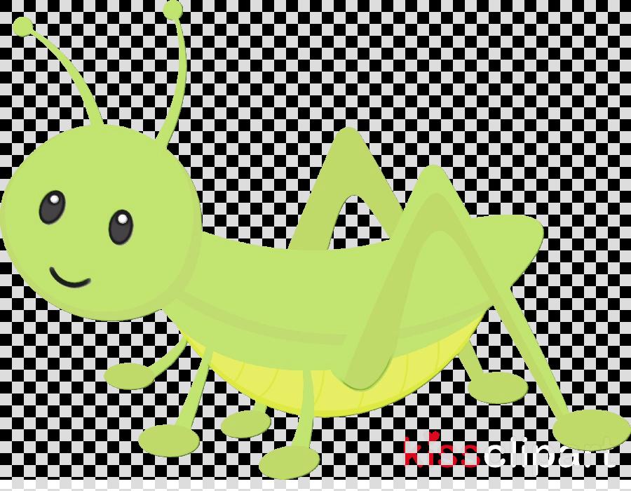 green insect cartoon clip art grasshopper clipart.