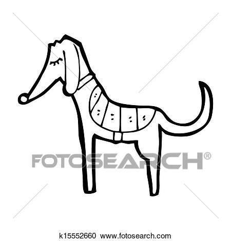 Cartoon greyhound Clipart.