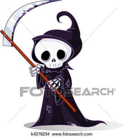 Cartoon grim reaper Clipart.