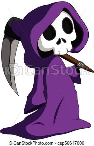 Cute grim reaper.