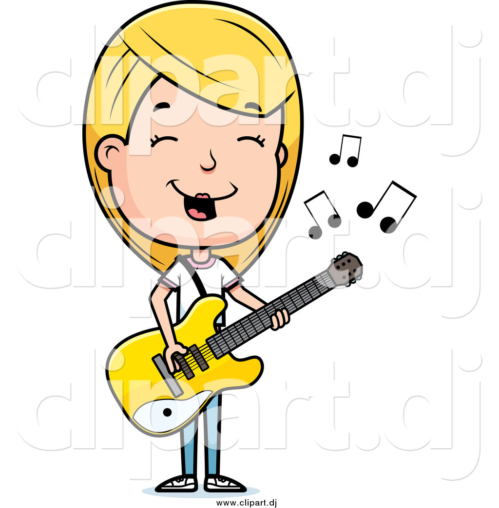 Showing post & media for Cartoon woman playing guitar.