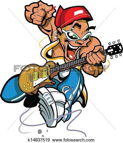 Cartoon guitar clip art Clip Art Vector Graphics. 753 cartoon.