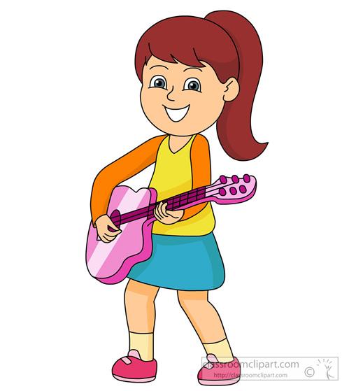 Cartoon Guitar Player Clipart.