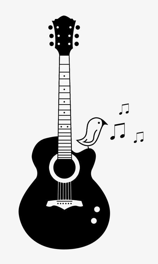 Guitar, Guitar Clipart, Hand Painted Guitar, Cartoon Guitar PNG.