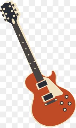 Vector Cartoon Guitar, Cartoon Vector, G #77035.