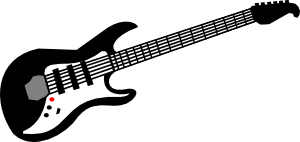 Electric Guitar clip art Free Vector / 4Vector.