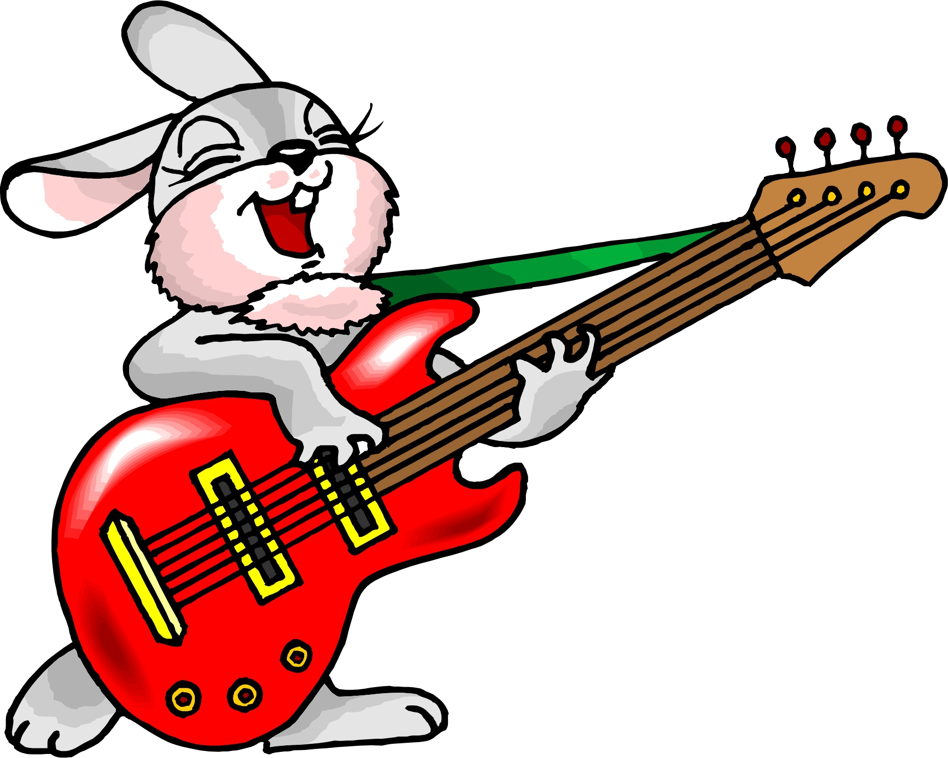 Cartoon Guitar Clipart#2112682.