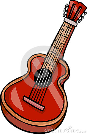 Guitar Clip Art Cartoon Illustration Stock Images.