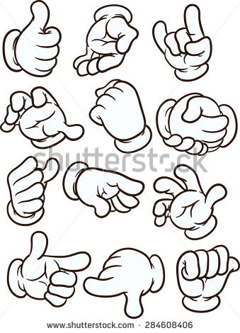 Cartoon Gloved Hands Vector Clip Art Stock Vector 138953177.