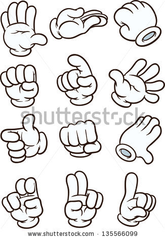 Cartoon Hands Stock Images, Royalty.