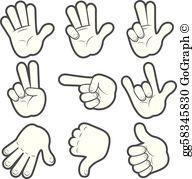 Cartoon Hands Clip Art.