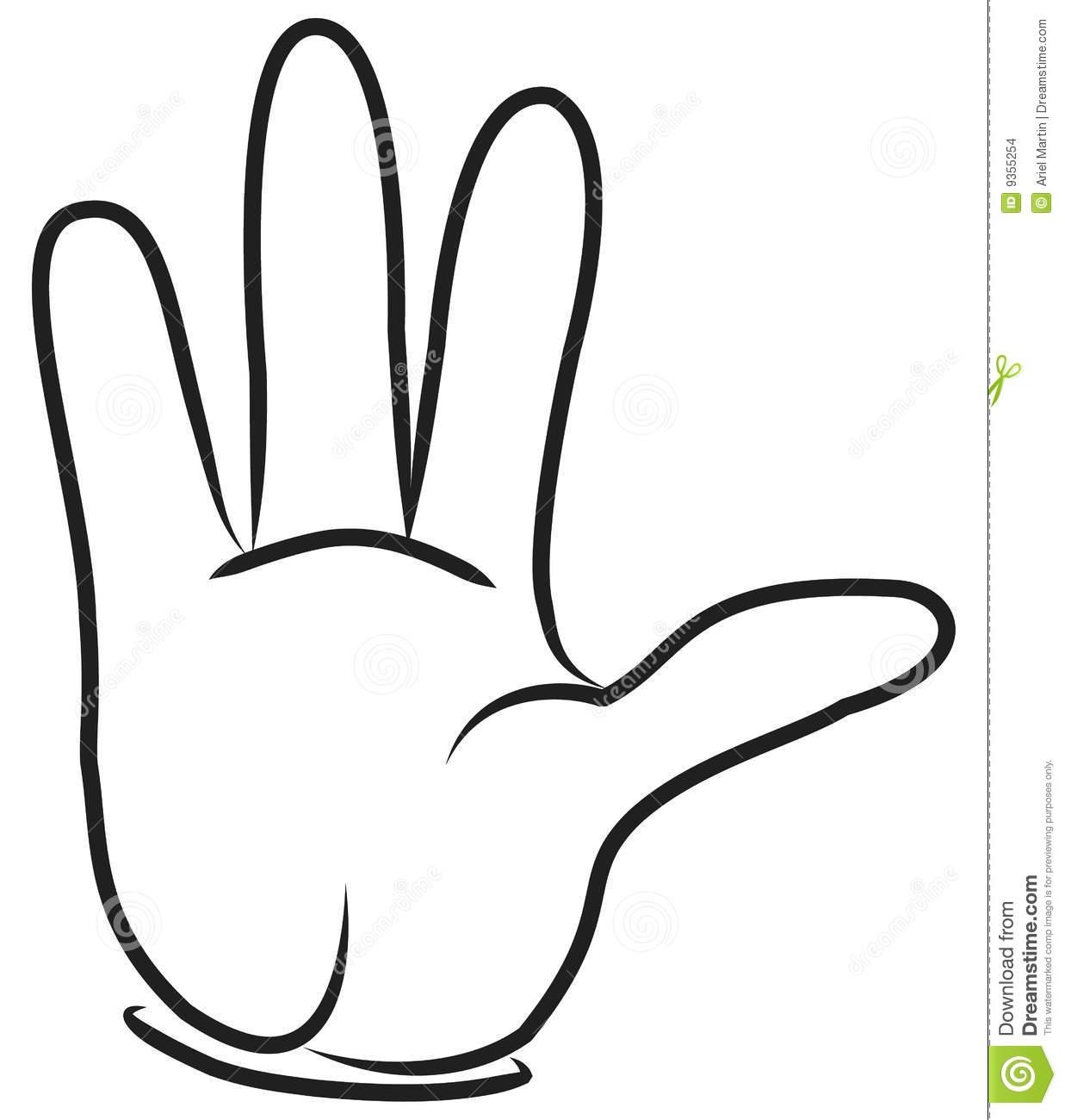 Cartoon hand. stock vector. Illustration of style, success.