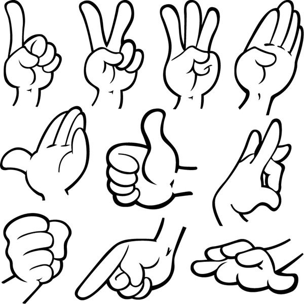 Cartoon Hand Clip Art.