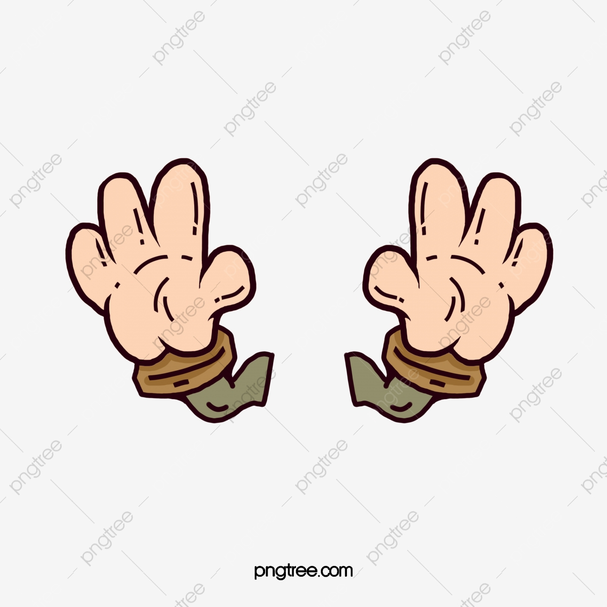 Cartoon Hands, Cartoon Clipart, Cartoon, Hand PNG Transparent.