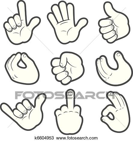 Cartoon Hands #2 Clipart.