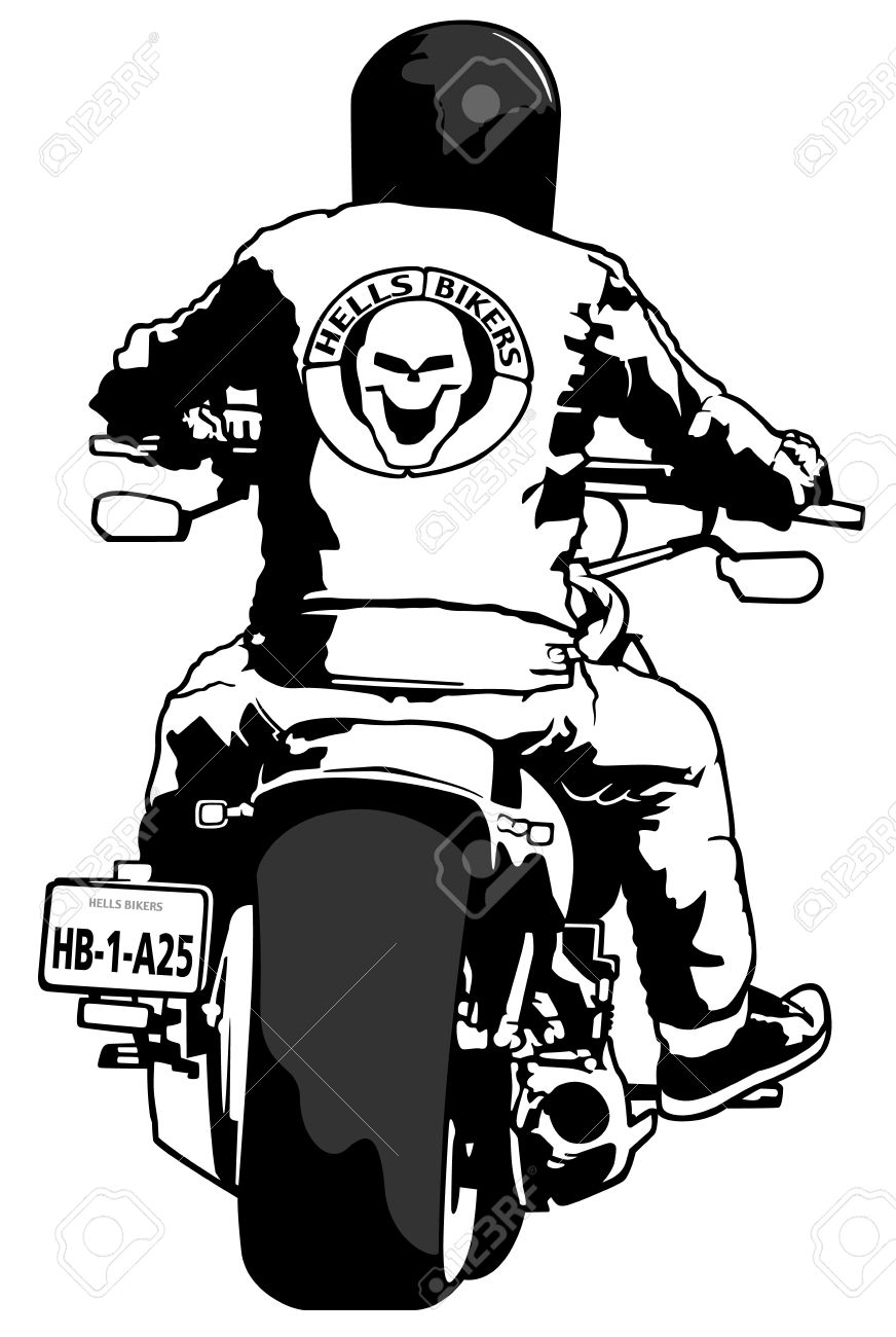 Harley Davidson and Rider.