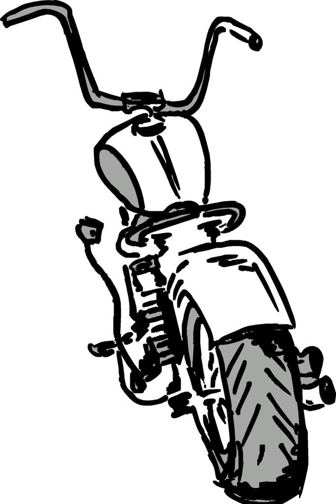 Cartoon Harley Davidson Xl.