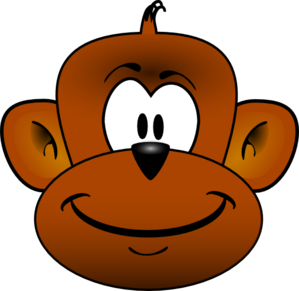 Cartoon Monkey Head PNG, SVG Clip art for Web.
