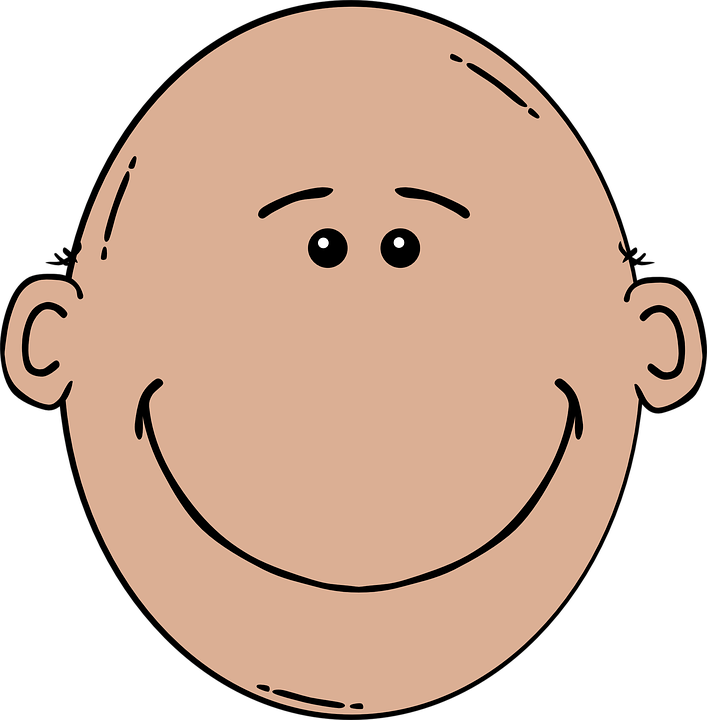Head Cartoon Isolated.