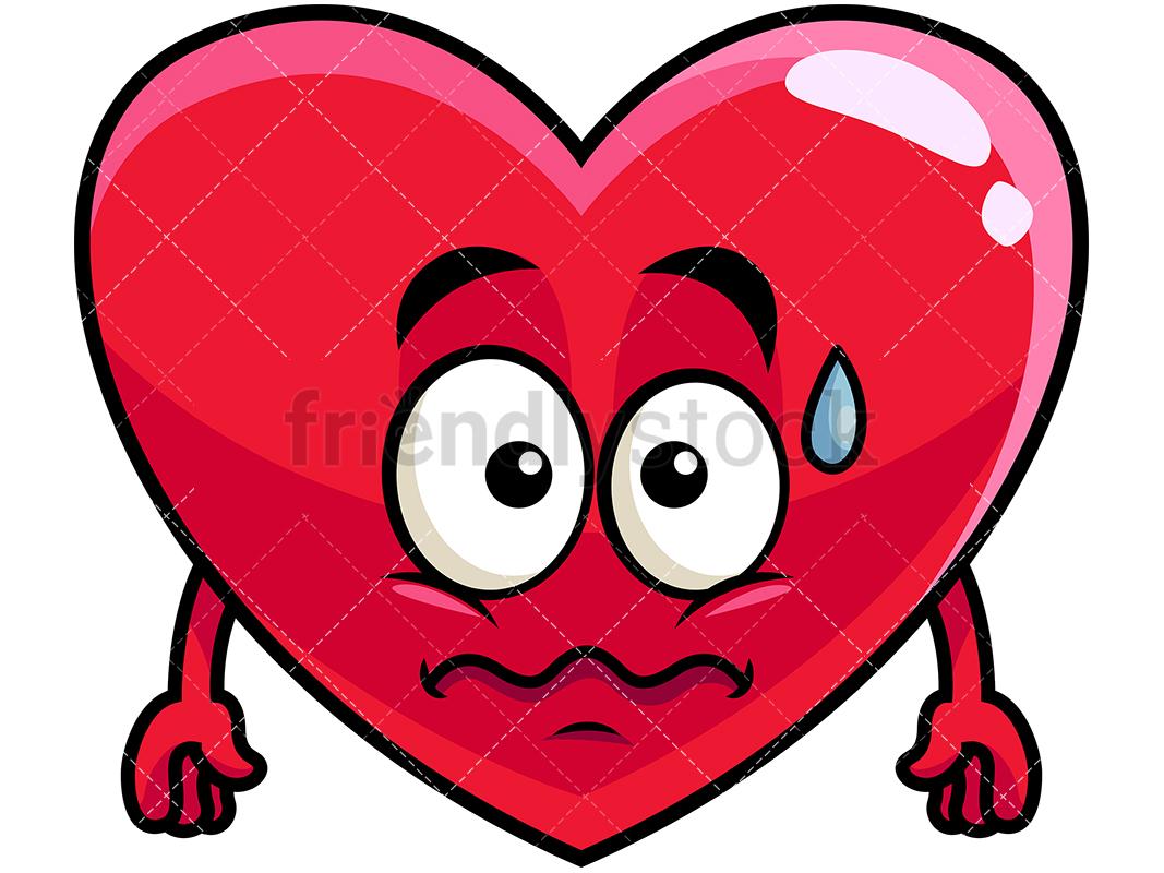 Anxious Heart Emoji.