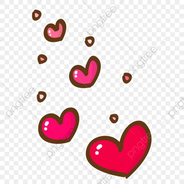 Floating Cartoon Heart, Cartoon Clipart, Heart Clipart, Cute Cartoon.